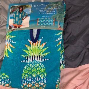 2 in 1 beach towel & poncho